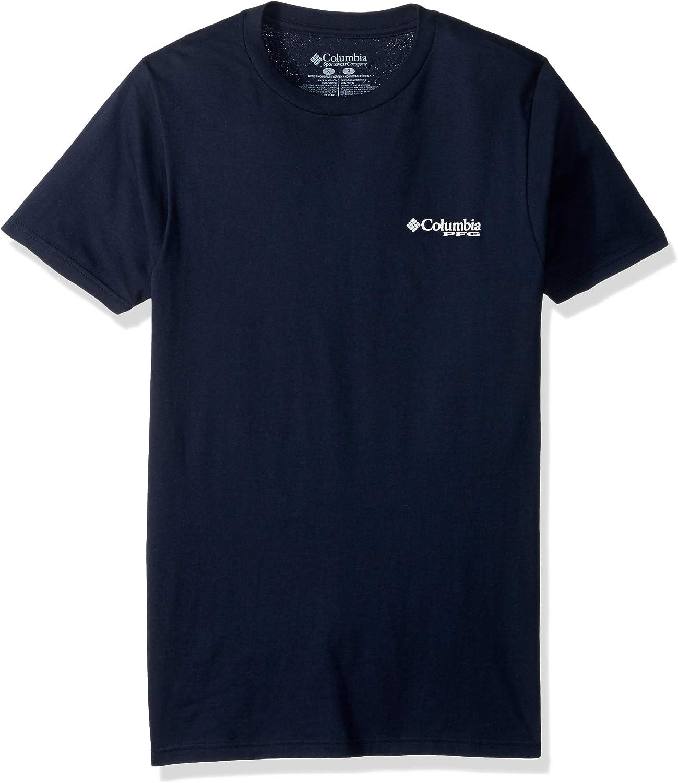 Columbia New PFG Fishing Short Sleeve Graphic T-Shirt Men/'s Medium Purple