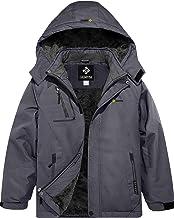 GEMYSE Boy's Waterproof Ski Snow Jacket Fleece Windproof Winter Jacket with Hood