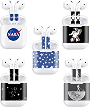 EKIND 5 PCS Stylish Sticker Compatible for Apple Airpods Earbud & Charging Box, Personalized Your Airpods, Set 3