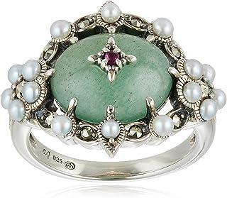 [ROKUZAN] ROKUZAN 银色 东陵石 淡水珍珠 戒指