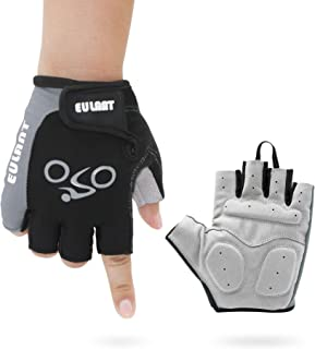 EULANT Bike Bicycle Motorcycle Shockproof Foam Padded Outdoor Sports Half Finger Short Riding Biking Glove Working Gloves for Men or Women