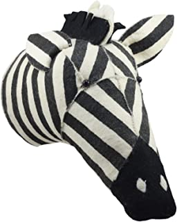 Ebros Fiona Walker England Handmade Organic Baby Animal Head Wall Decor The Originals Collection Large (Zebra Head)