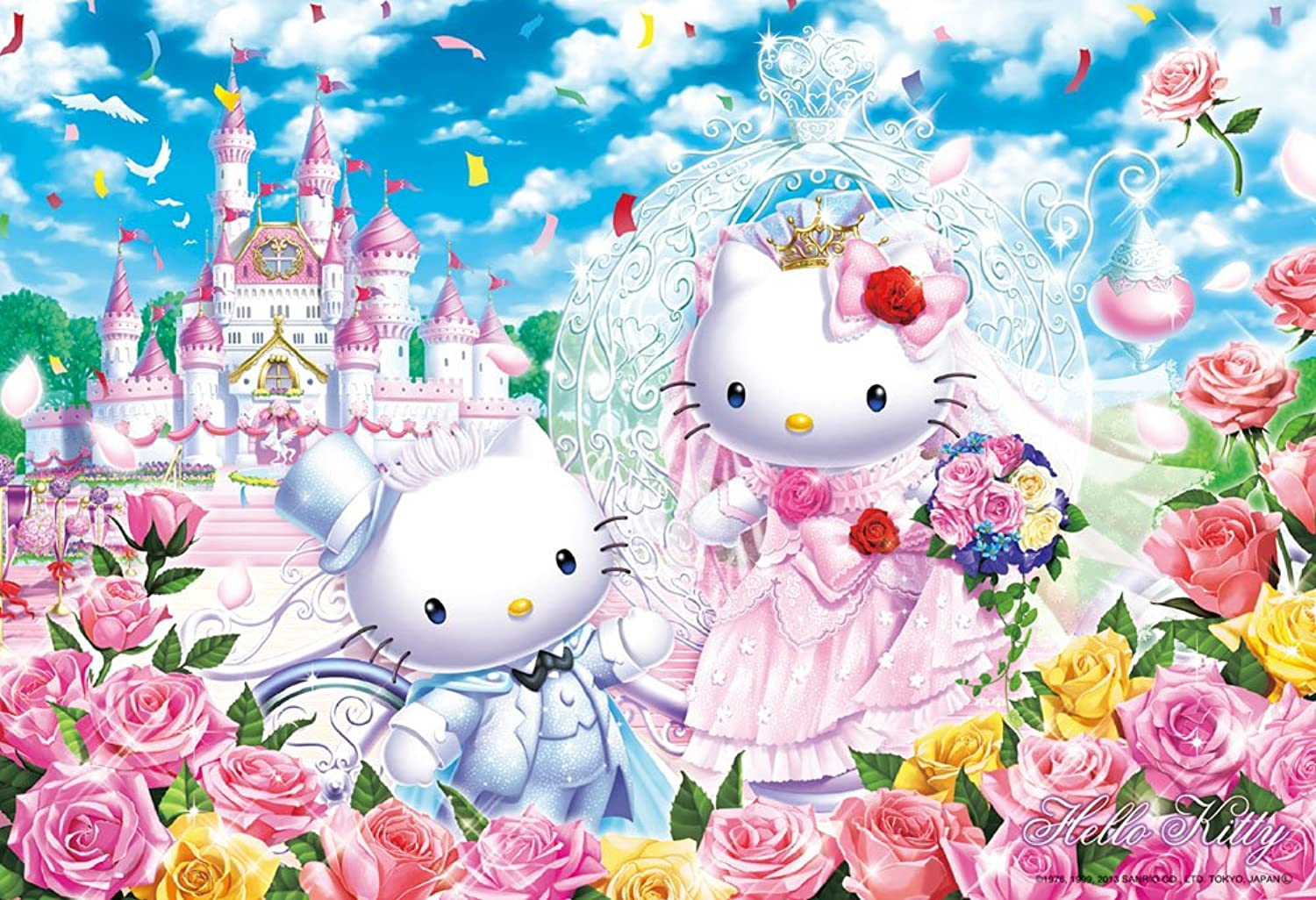 Hello Kitty 300 Piece Castle Wedding 33067 (japan import)
