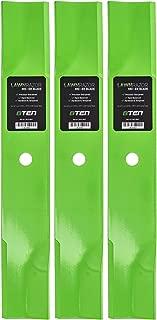 8TEN LawnRAZOR Hi-Lift Blade 48 Inch Deck for Exmark Gravely Toro Snapper 103-2527 103-6583 04919100 3 Pack