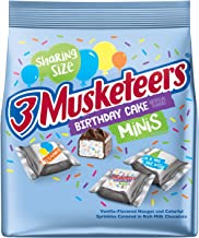 3 Musketeers 3 MUSKETEERS Birthday Cake Minis Size Chocolate Candy Bars, 8.4-Ounce Bag, 8.4 oz