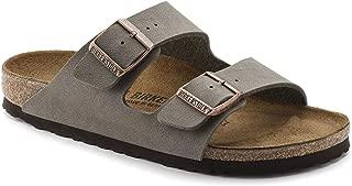 Birkenstock Unisex Arizona Sandals Stone Birkibuc 37 = Women's 6-6.5 Narrow