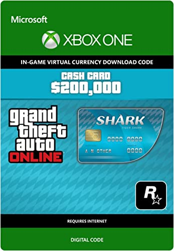 Grand Theft Auto Online | GTA V Tiger Shark Card | 200,000 GTA-Dollars | Xbox One – Code jeu à télécharger