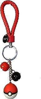 NCNY Keychain for Pokemon GO Pokeball Key Chain Keyring (Red)