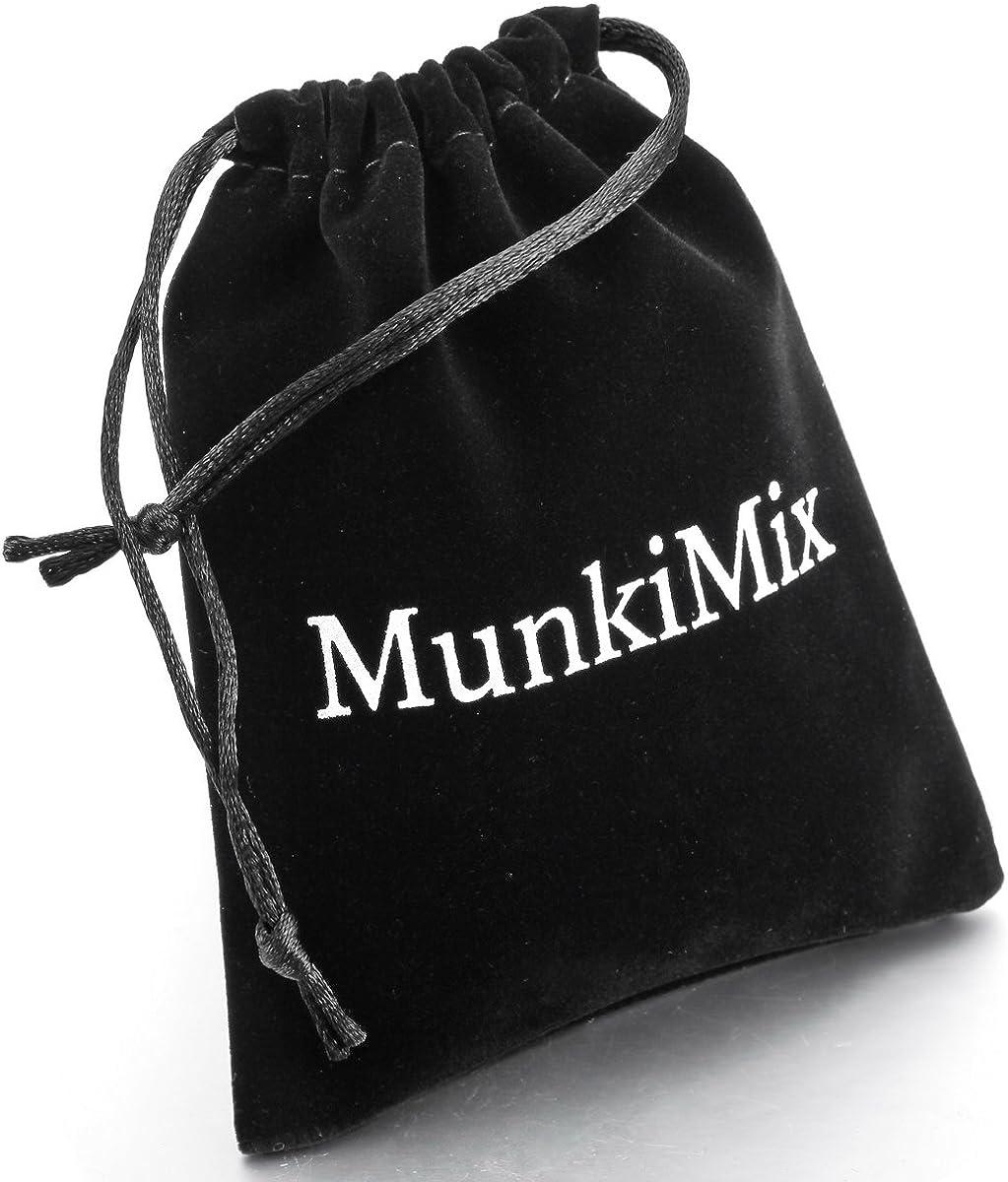 MunkiMix Acciaio Inossidabile Pendente Ciondolo Collana Boxe Guanti Uomo,Catenina Lunga 58 cm Inclusa