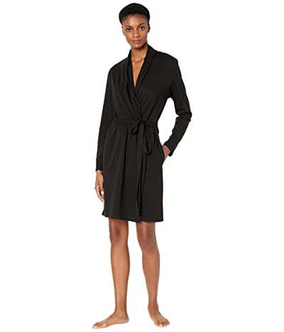 Skin Organic Cotton Coleen Robe (Black) Women