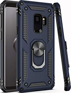 """Galaxy S9 Case,ZADORN 15ft Drop Tested,Military Grade Heavy Duty Armor Protective Cover with Hard PC and Soft Silicone Kickstand Phone Case for Samsung Galaxy S9 (Small Size 5.8"""") Blue"""