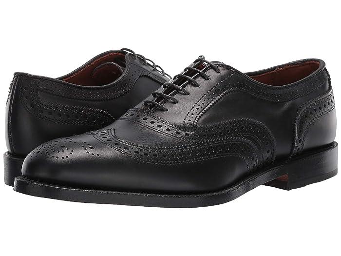 1950s Mens Shoes: Saddle Shoes, Boots, Greaser, Rockabilly Allen Edmonds McAllister Black Calf Mens Lace Up Wing Tip Shoes $394.95 AT vintagedancer.com