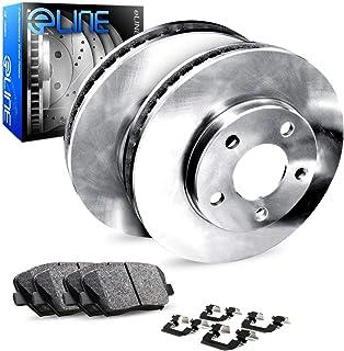 For Sequoia,GX470,4Runner,FJ Cruiser R1 Concepts eLine Rear Plain Brake Rotors Kit + Ceramic Pads