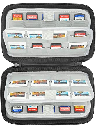 Sisma 72 Game Cartridge Holders Hard Carrying Case for Organizing Nintendo Switch 3DS DS Sony Ps Vita Games SD microSD Memory Cards, Black SVG180901GC-B
