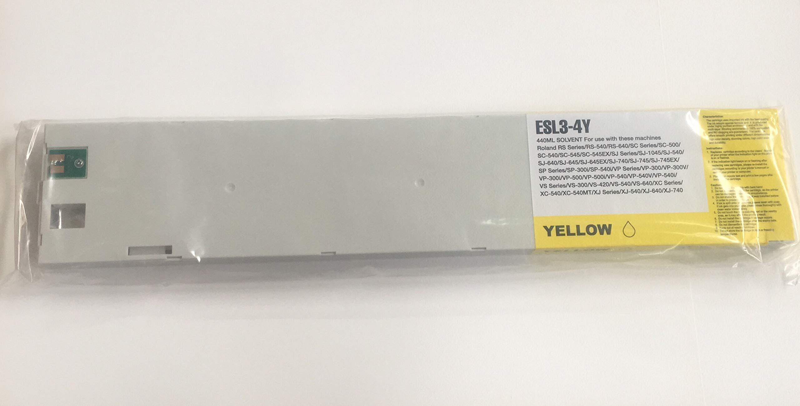 Mr Cartridge Cartucho Compatible con Tinta pigmentada para Plotter Roland Esl3-4 Amarillo: Amazon.es: Electrónica