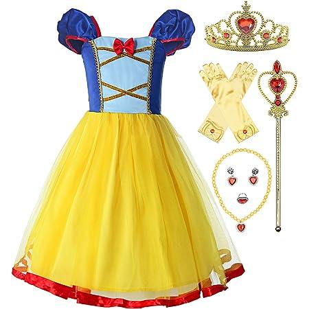 Lito Angels Baby M/ädchen Schneewittchen Kleid Prinzessin Kost/üm Strampler Geburtstag Halloween Weihnachten Verkleidung Party Outfit mit Stirnband Gr/ö/ße 6-9 Monate 212