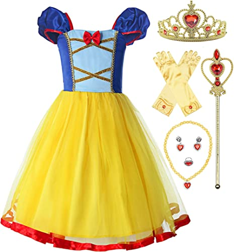 ReliBeauty Girls Elastic Waist Backless Princess Dress Costume