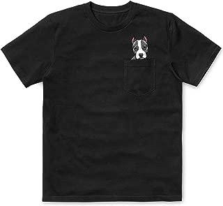Pitbull Middle Finger Funny Pocket T-Shirt Dog Owner Shirt Humor Adult Tshirt Pitties Lover Gift for Men Women