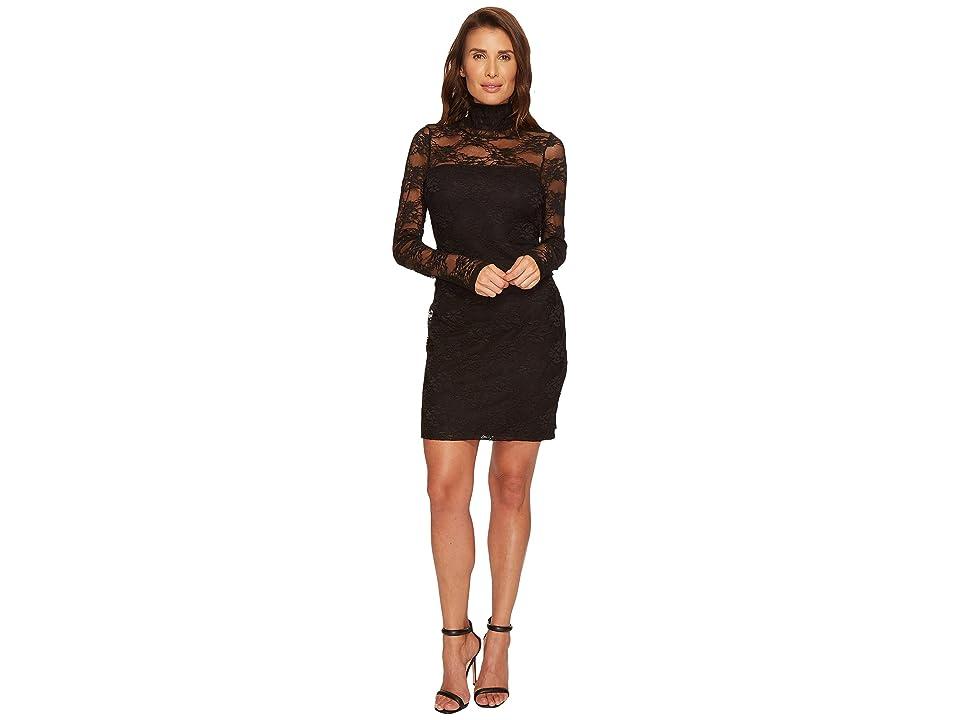 Karen Kane Turtleneck Lace Dress (Black) Women