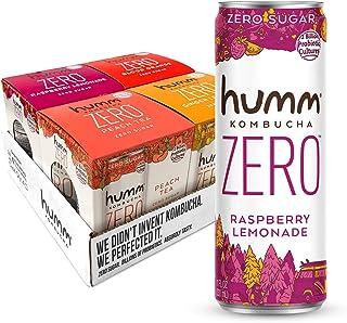 Humm Kombucha Zero Sugar Variety Pack - Live and Raw Kombucha - No Refrigeration Needed - Vegan, Gluten-Free - Variety Pac...