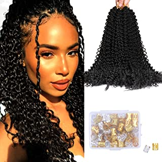 Fani Passion Twist Hair 20 Inches 6 Packs Curly Synthetic Hair Bundles Hair Weave Extensions Twists Crochet Hair for Braiding (Color #2)