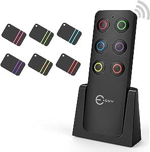 Key Finder  Esky Key Finders Wireless con ricevitori Item Locator  Articolo Tracker Support Remote Control  Pet Tracker  Portafoglio Tracker  buona Idea per Trovare Tuo Lost Items