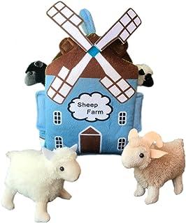 "Adore 12"" Windmill Sheep Farm House Stuffed Animal Plush Playset"