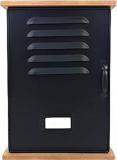 Feelinko Boîte à clés murale en bois - Noir - Métal