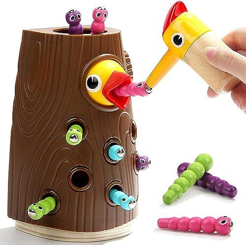 Nene Toys - Oiseau à Nourrir avec des Insectes - Jouet Éducatif Magnétique pour Fille Garçon de 2 3 4 Ans – Jeu Qui D...