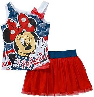 14bcc690f Disney Minnie Mouse Toddler Girls 2 Piece 4th of July Shirt & Skirt/Skort  Set