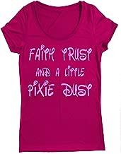 Performance Dry Sports Shirt – Women Running Short Sleeves top -Faith Trust A Little Pixie DUST