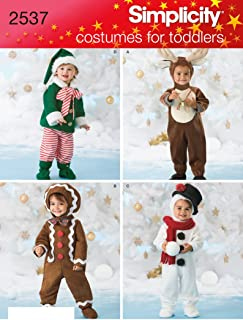 Simplicity Sewing Pattern 2537 Toddler Costumes, A (1/2-1-2-3-4)