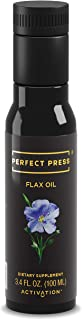 Activation Products, Perfect Press Flax Seed Oil – Great Tasting Cold Pressed Flaxseed Oil Supplement with ...
