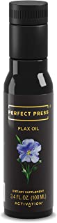 Activation Products, Perfect Press Flax Seed Oil – Great Tasting Cold Pressed Flaxseed Oil Supplement with Essential Omega 3 – 100% Vegan, Organic Flax Oil for Hair, Skin, Nails & Joints, 100ml