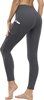 FUNANI High Waisted Leggings for Women, Pockets Yoga Pants Capris for Tummy Control with Non See-Through Material