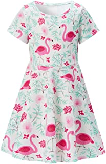 toddler girl flamingo dress