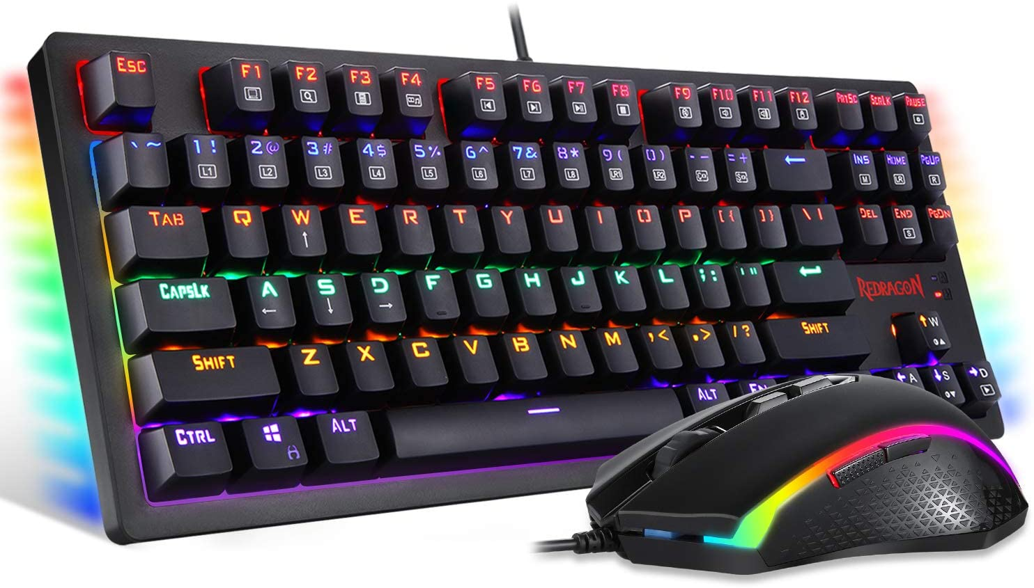 Redragon S113 Gaming Keyboard Many popular brands Mouse Wired LED Discount is also underway Mechanical Combo R