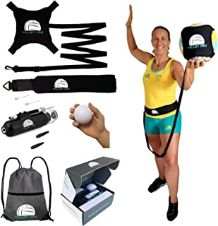 Volley Pro Premium Volleyball Rebounder & Serving Trainer.Solo Volleyball Spike Trainer for Indoor or Outdoor Spiking & Se...