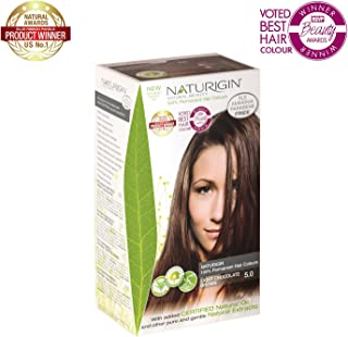 Naturigin Hair Colour - Permanent - Light Chocolate Brown - Certified Organic Ingredients (Pack of 2)
