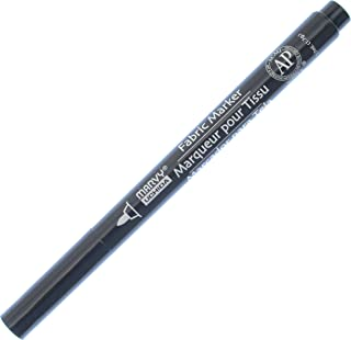 قلم تحديد قماش مارفي ذو نقاط دقيقة Uchida 522-C-1، أسود
