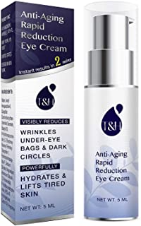 Anti-Aging Rapid Reduction Eye Cream, Visibly and Instantly Reduces Wrinkles, Under-Eye Bags, Dark Circles in 120 Seconds, Hydrates & Lifts Skin, 10ml