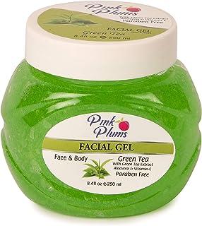 PINK PLUMS Glowing Green Tea Facial Gel with Vitamin-E, 250 ml