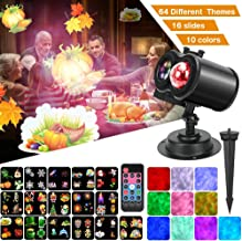 Ocean Wave Christmas Projector Lights, Remote Control 2-in-1 Moving Patterns W/Water Wave LED Landscape Holiday Night Ligh...