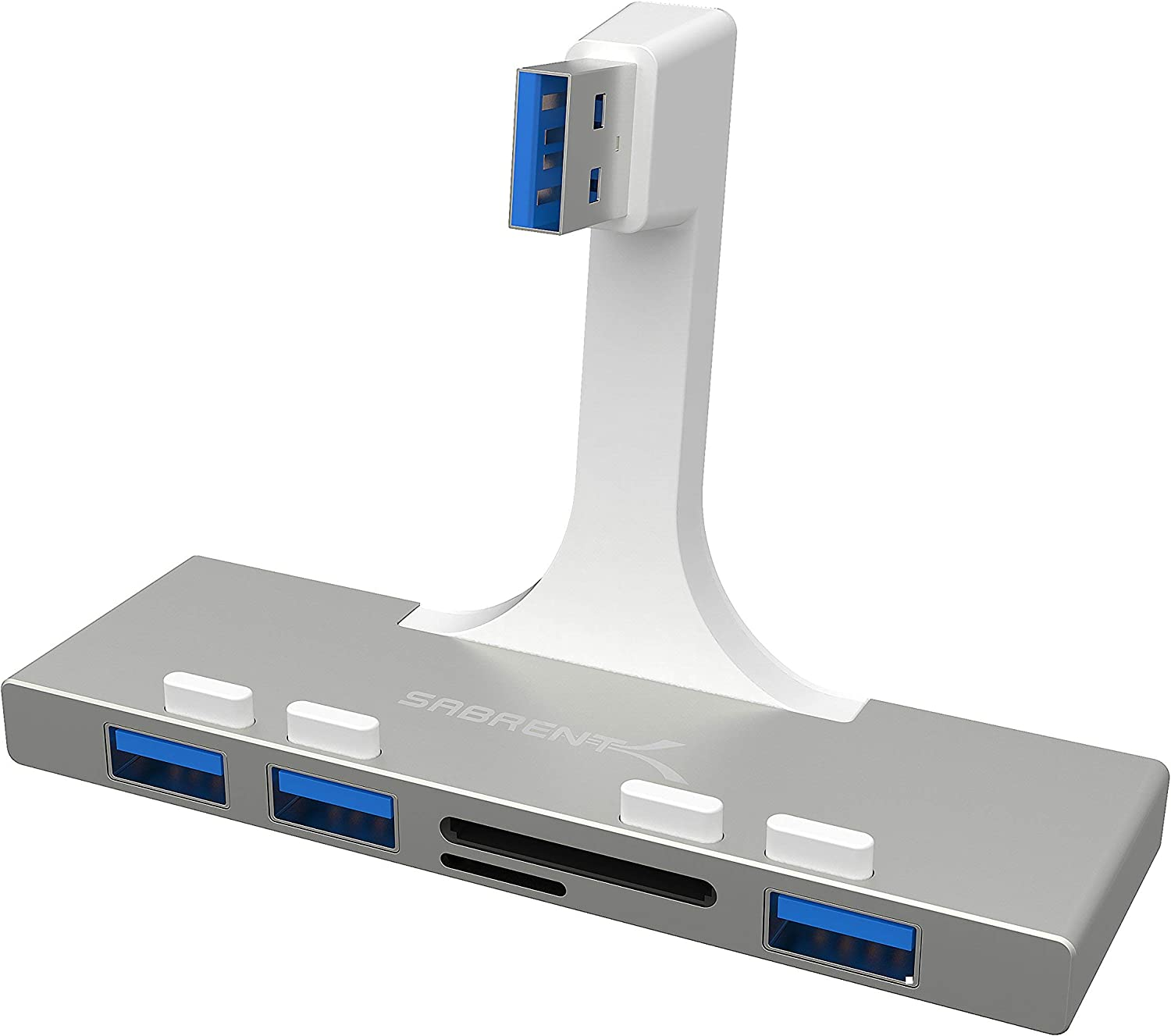 Sabrent 3-Port USB 3.0 Hub with iMac for Reader Branded Same day shipping goods Card Multi-in-1