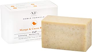 Noble Formula 2% Pyrithione Zinc (ZnP) Vegan Mango and Cocoa Butter Bar Soap, 3.25 oz