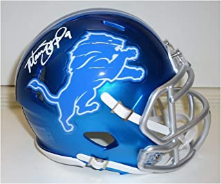 Matthew Stafford Autographed Detroit Lions Mini Helmet - Blaze