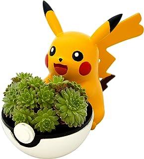 4.5'' Pikachu Planter Pot - Great for Succulents, House Plants, Echeveria, Jade Plant | Small Size 11.5cm Tall Mini Flowerpot