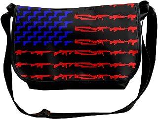 BUGKHD Bandera estadounidense, bandera, bandolera, bolso bandolera para hombres y mujeres, bolso de moda para ir de compra...