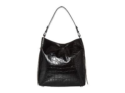 AllSaints Polly North/South Tote (Black) Handbags