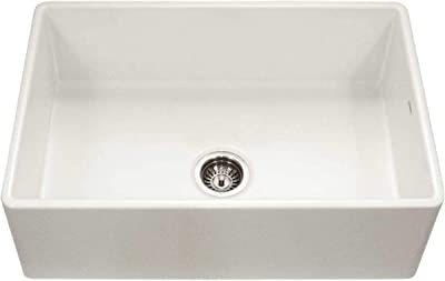 Houzer Ptg 4300 Bq Apron Front Fireclay Single Bowl Kitchen Sink 33 Biscuit